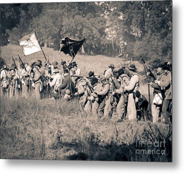 Gettysburg Confederate Infantry 9281s Metal Print