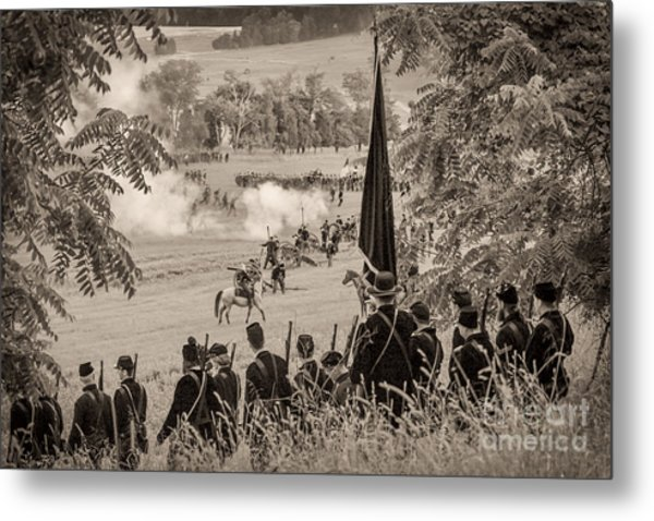 Gettysburg Union Artillery And Infantry 7457s Metal Print