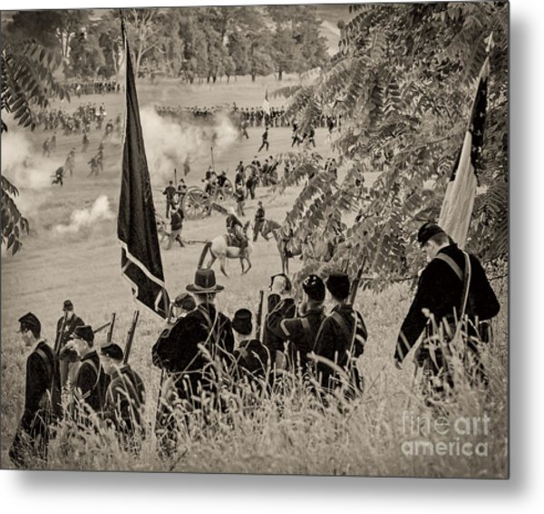 Gettysburg Union Artillery And Infantry 7459s Metal Print