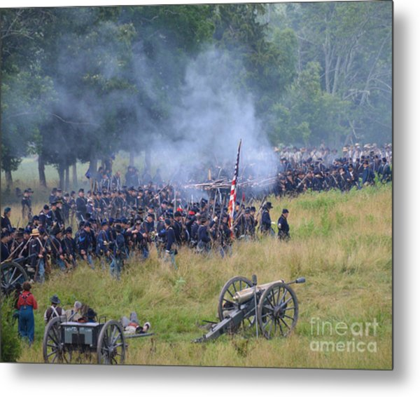 Gettysburg Union Artillery And Infantry 8456c Metal Print