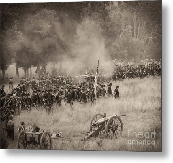 Gettysburg Union Artillery And Infantry 8456s Metal Print