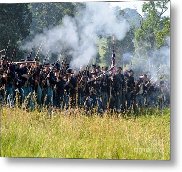 Gettysburg Union Infantry 9360c Metal Print