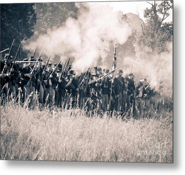 Gettysburg Union Infantry 9360s Metal Print
