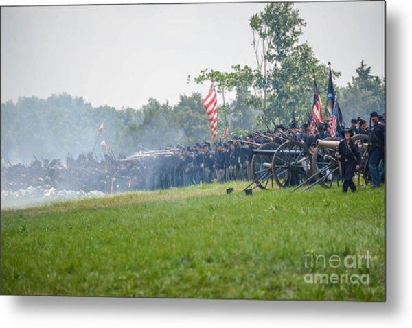 Gettysburg Union Infantry 9968c Metal Print