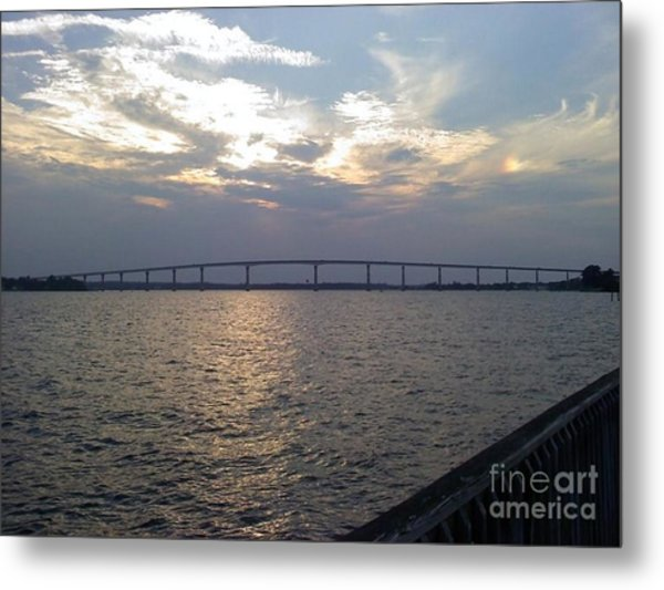 Gov Thomas Johnson Bridge Metal Print