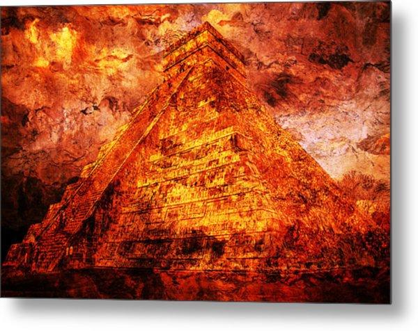 C H I C H E N  .  I T Z A .  Pyramid Metal Print