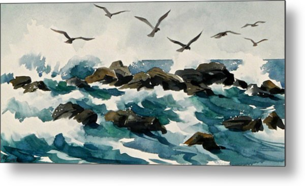 Out To Sea Metal Print by Art Scholz
