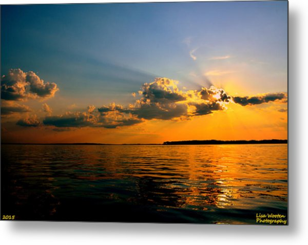 Metal Print featuring the photograph  Perfect Ending To A Perfect Day by Lisa Wooten