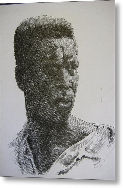 Photograph Of K. C. Metal Print by Dalushaka Mugwana