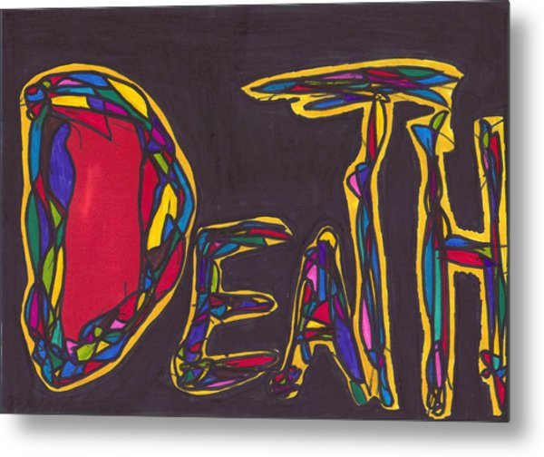 Pillar Of Death Metal Print
