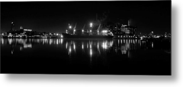Point Lights Bw Metal Print