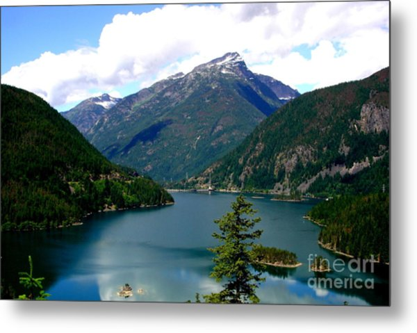 Ross Lake In The North Cascades Metal Print