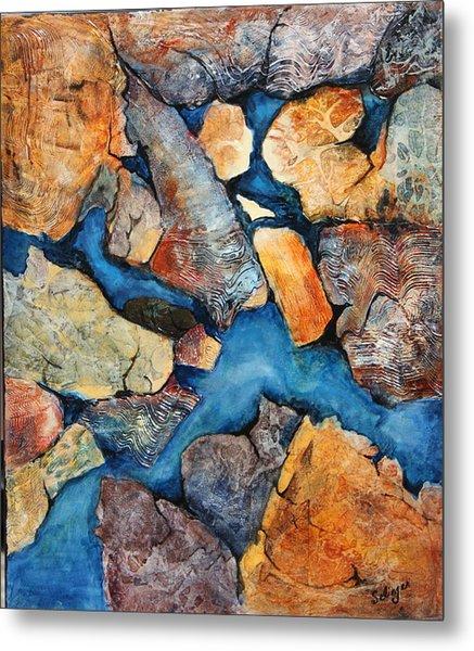 Shoreline Rocks Metal Print