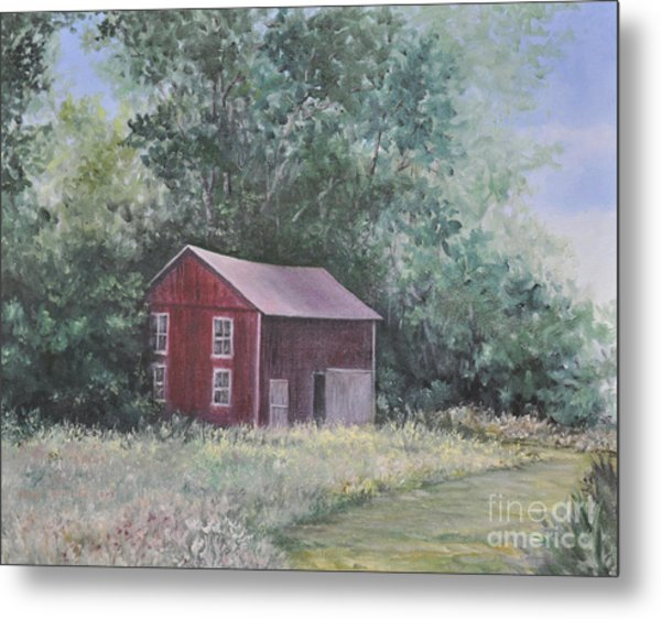 Shortys Shed Metal Print by Penny Neimiller
