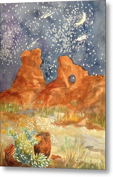 Starry Night In The Desert Metal Print