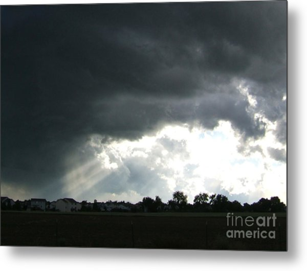 Storm Cloud  Over Westminster Metal Print by Nancy Rucker