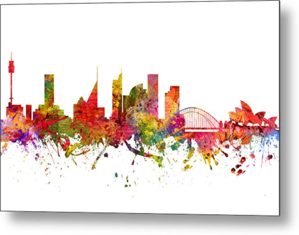 Sydney Australia Cityscape 08 Metal Print