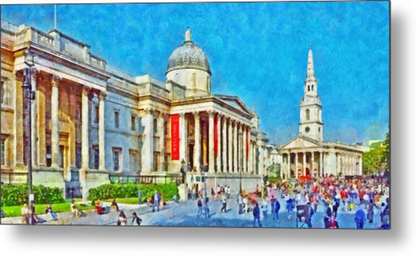The National Gallery And St Martin In The Fields Church Metal Print
