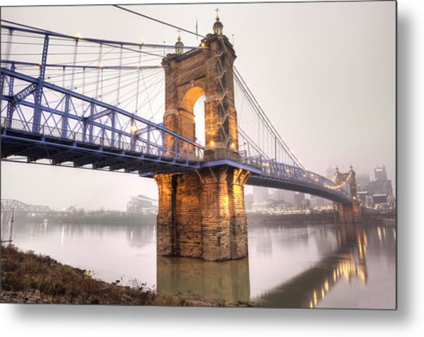 The Roebling Bridge Metal Print