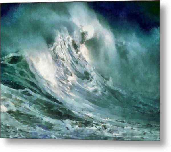Tsunami - Raging Sea Metal Print by Russ Harris