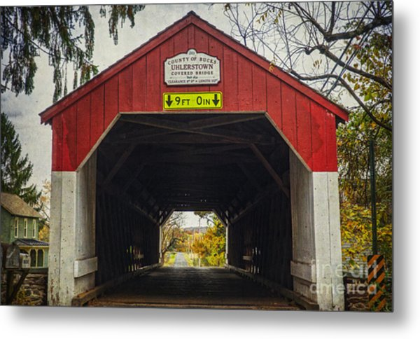 Uhlerstown Covered Bridge Iv Metal Print