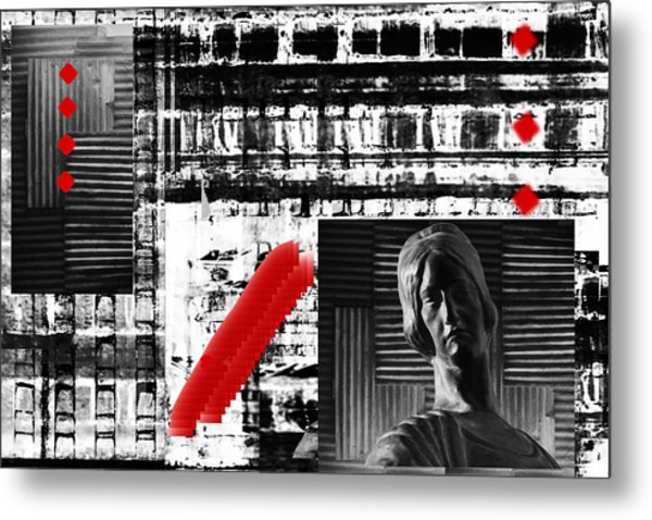 Where In The Riddle The Answer Hides And Red Metal Print