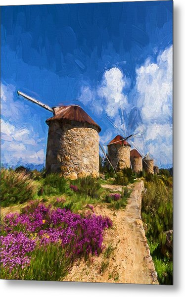 Windmills Of Portugal Metal Print