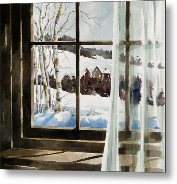 Winter Window Metal Print by Art Scholz