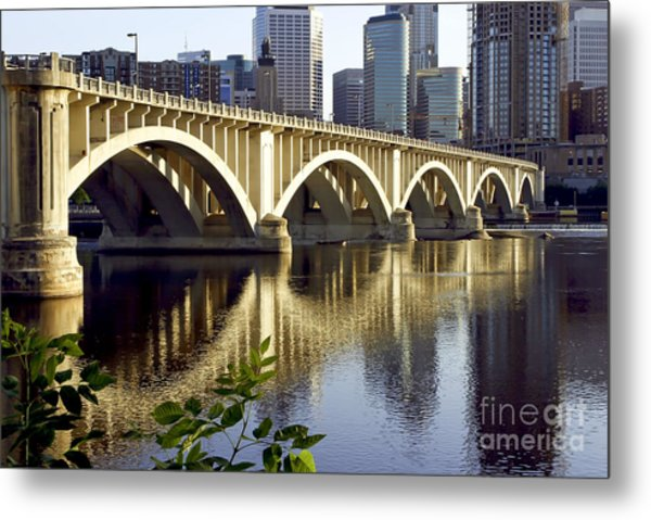 0333 3rd Avenue Bridge Minneapolis Metal Print