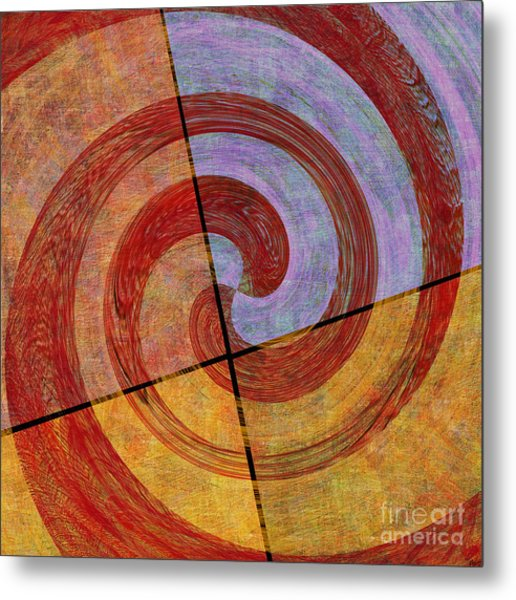 0581 Abstract Thought Metal Print