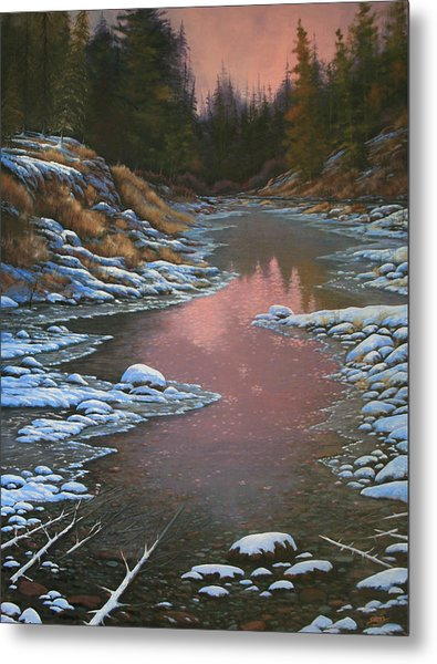 080210-3040 Early Morning Light - Winter Metal Print by Kenneth Shanika