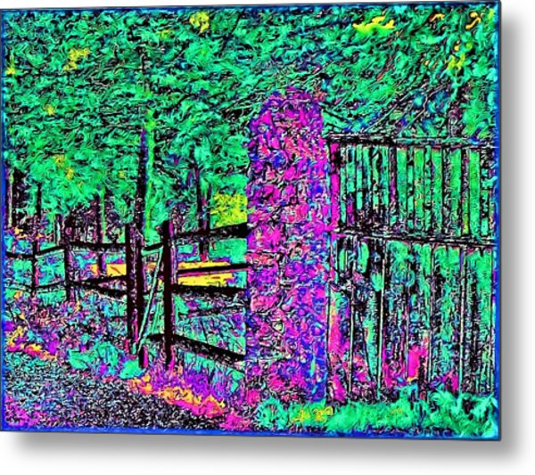 08f  Fences Of Maine Metal Print by Ed Immar