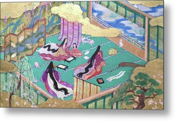 絵巻風#絵巻 #japanesepainting Metal Print by Tomoko Nakai