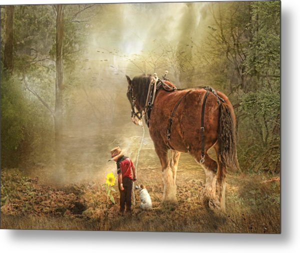 The Seeds We Sow Metal Print