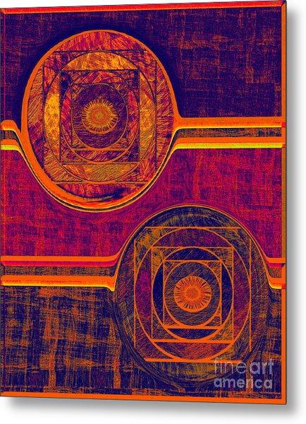 0523 Abstract Thought Metal Print