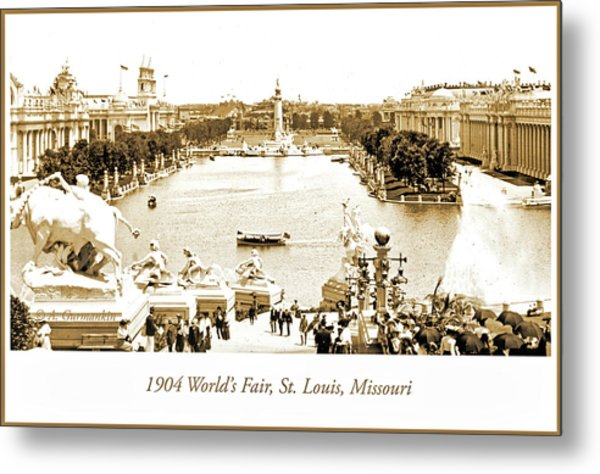 1904 World's Fair, Grand Basin View From Festival Hall Metal Print