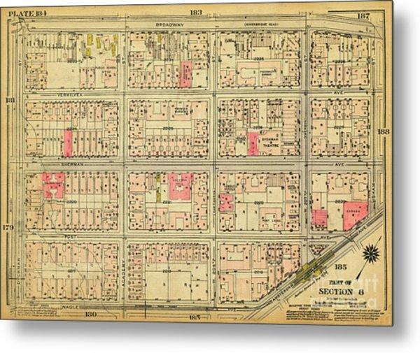 1927 Inwood Map  Metal Print