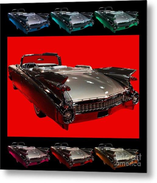1959 Cadillac Eldorado Convertible . Wing Angle Artwork Metal Print by Wingsdomain Art and Photography