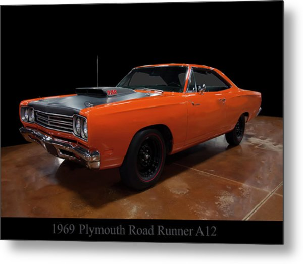 1969 Plymouth Road Runner A12 Metal Print
