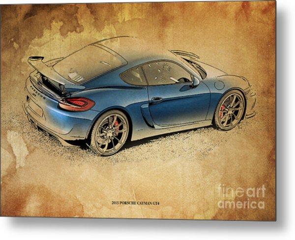 2015 Porsche Cayman Gt4 Metal Print