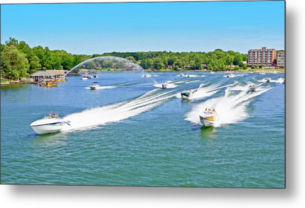 2017 Poker Run, Smith Mountain Lake, Virginia Metal Print