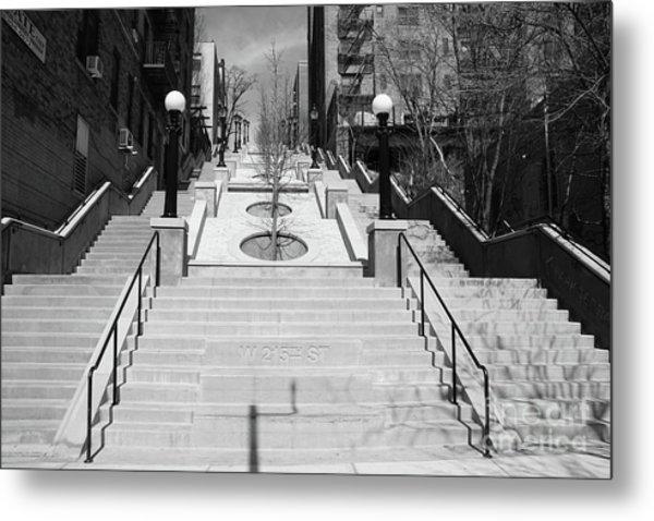 215th Street Stairs Metal Print