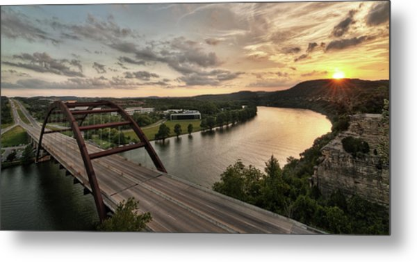 360 Bridge Sunset Metal Print