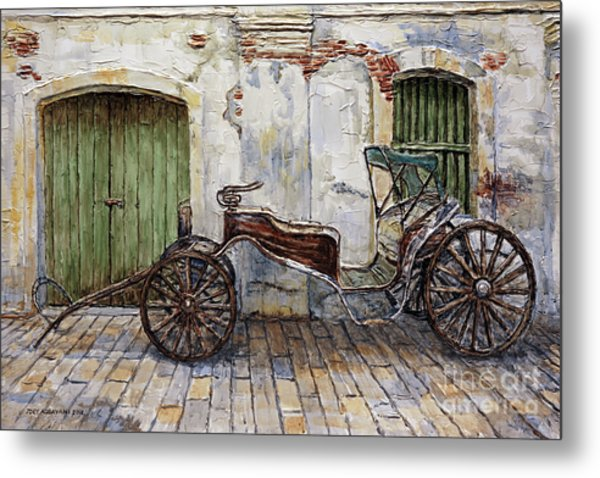 A Carriage On Crisologo Street 2 Metal Print