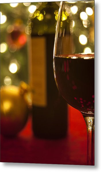 A Drink By The Tree Metal Print