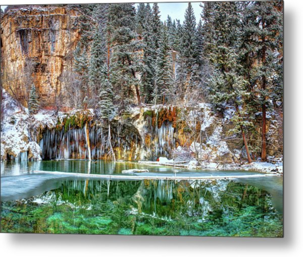 Olena Art Serene Chill Hanging Lake Photograph The Gem Of Glenwood Canyon Colorado Metal Print