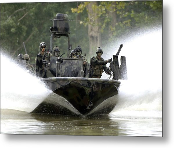 A Special Operations Craft Riverine Metal Print