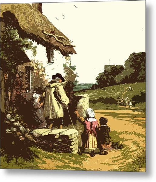A Walk With The Grand Kids Metal Print