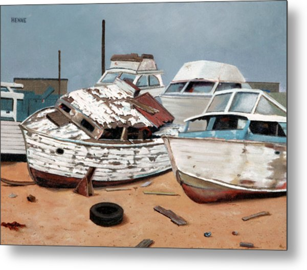 Metal Print featuring the painting Abandoned Dreams by Robert Henne