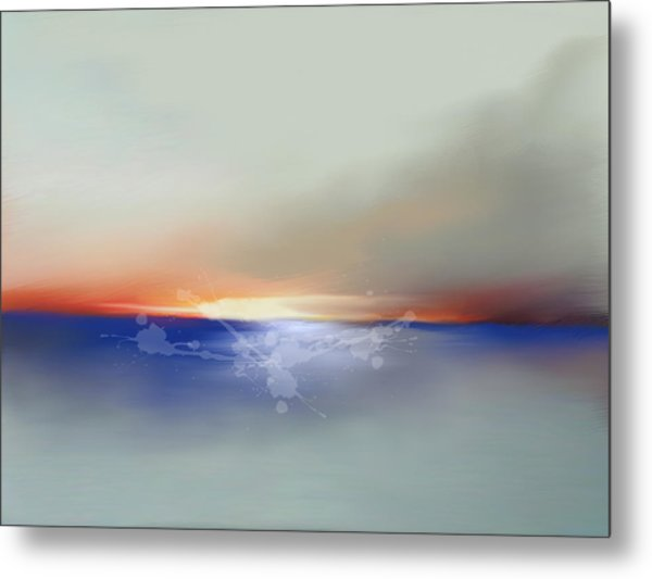 Abstract Beach Sunrise  Metal Print